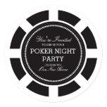 Invitación negra del fiesta de la noche del juego invitación 13,3 cm x 13,3cm