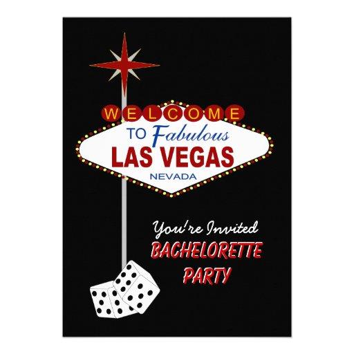 Invitación negra del fiesta de Las Vegas Bachelore