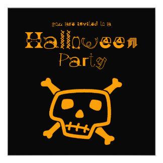 Invitación negra del fiesta de Peter Halloween del