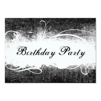 Invitación negra fresca enrrollada de la fiesta de invitación 12,7 x 17,8 cm
