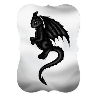 invitación negra linda del dragón
