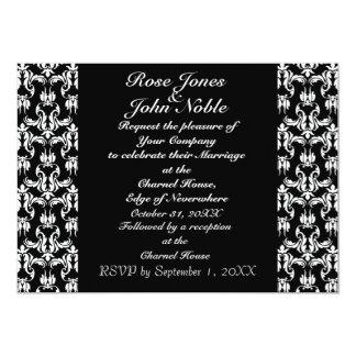 Invitación (negra) negra azul del boda