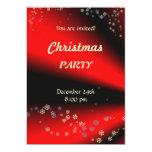 Invitación negra roja de la fiesta de Navidad