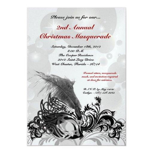 invitación negra roja de Navidad del navidad de la