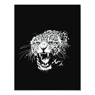Invitación negra y blanca de Jaguar Invitación 10,8 X 13,9 Cm