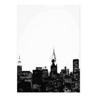 Invitación negra y blanca de Nueva York