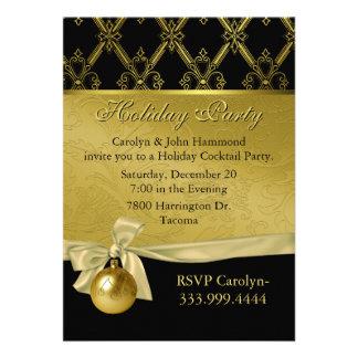 Invitación negra y dorada elegante de la celebraci