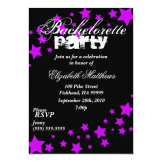 Invitación negra y púrpura del fiesta de