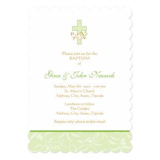 Invitación neutral del bautismo de la cruz y de la invitación 12,7 x 17,8 cm