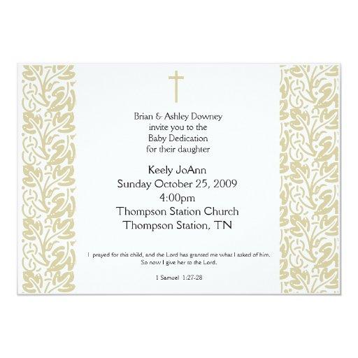 Invitación neutral del bautismo del género del invitación 12,7 x 17,8 cm