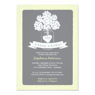 Invitación neutral dulce de la fiesta de invitación 12,7 x 17,8 cm