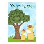 Invitación neutral personalizada de la fiesta de