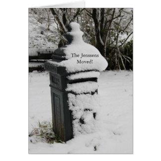 Invitación nevada de la dirección del buzón felicitación