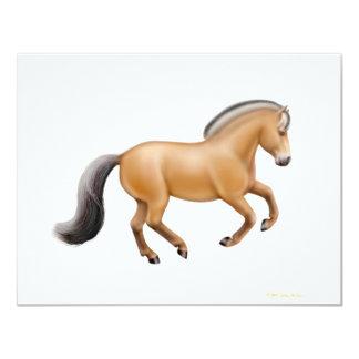 Invitación noruega del caballo del fiordo