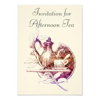 Invitación nostálgica del té de tarde