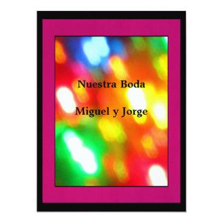 Invitación - Nuestra Boda - Multicolor Card