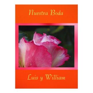 Invitación - Nuestra Boda - Rosa y naranja Invitations