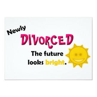 Invitación nuevamente divorciada del fiesta