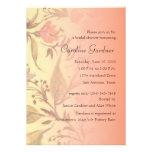 Invitación nupcial 5x7 de la ducha floral