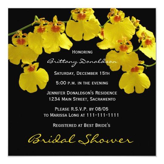 Invitación nupcial amarilla de la ducha --