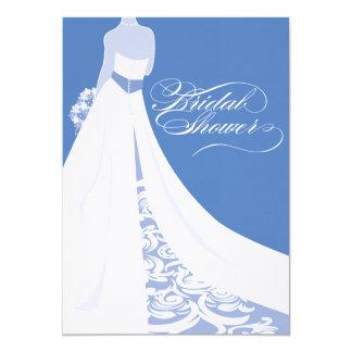 Invitación nupcial azul de la ducha