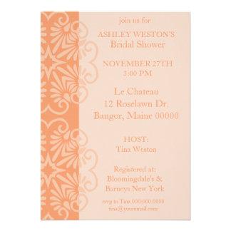 Invitación nupcial de encaje de la ducha