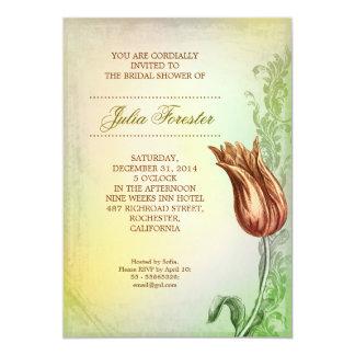 invitación nupcial de encargo de la ducha del invitación 12,7 x 17,8 cm