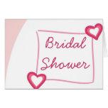 Invitación nupcial de encargo de la ducha del tarjeta de felicitación
