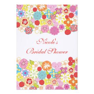 invitación nupcial de encargo floral bonita de la