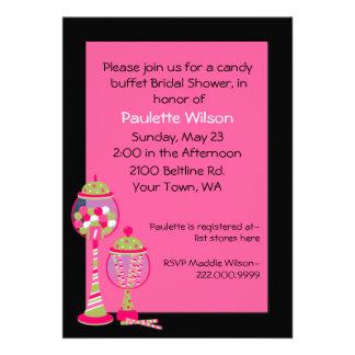 Invitación nupcial de la comida fría del caramelo