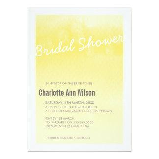 INVITACIÓN NUPCIAL DE LA DUCHA: amarillo de la Invitación 12,7 X 17,8 Cm