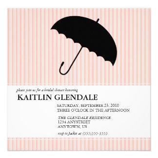 Invitación nupcial de la ducha con el paraguas