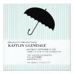 Invitación nupcial de la ducha con el paraguas invitación 13,3 cm x 13,3cm