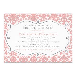 Invitación nupcial de la ducha de Brown del modelo