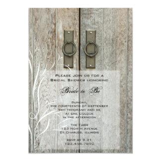 Invitación nupcial de la ducha de granero del país