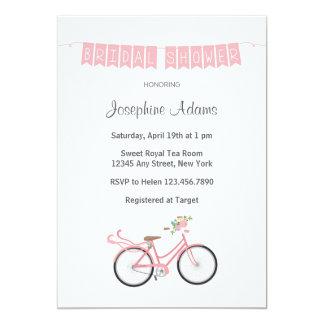 Invitación nupcial de la ducha de la bicicleta