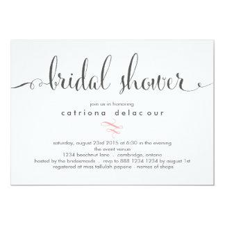 Invitación nupcial de la ducha de la caligrafía