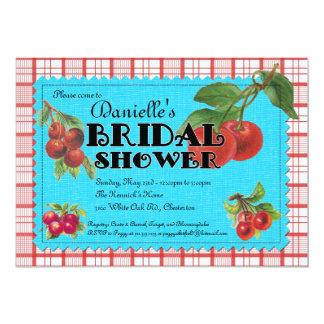 Invitación nupcial de la ducha de la cereza alegre