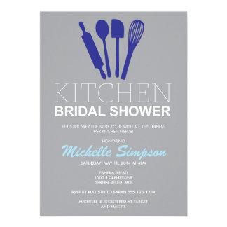 Invitación nupcial de la ducha de la cocina