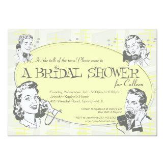 Invitación nupcial de la ducha de la comidilla del invitación 12,7 x 17,8 cm