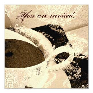 Invitación nupcial de la ducha de la fiesta del té