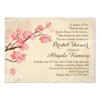 Invitación nupcial de la ducha de la flor de