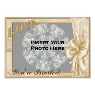 Invitación nupcial de la ducha de la foto elegante