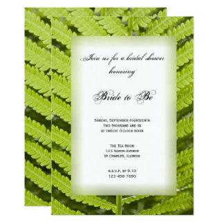 Invitación nupcial de la ducha de la fronda verde