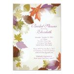 Invitación nupcial de la ducha de la hoja púrpura invitación 12,7 x 17,8 cm