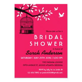 Invitación nupcial de la ducha de la jaula de invitación 12,7 x 17,8 cm