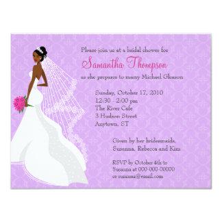 Invitación nupcial de la ducha de la lila 2