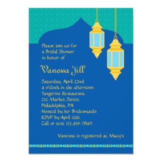 Invitación nupcial de la ducha de la linterna invitación 12,7 x 17,8 cm