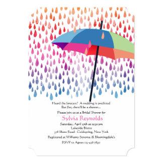 Invitación nupcial de la ducha de la lluvia de