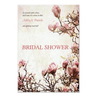 Invitación nupcial de la ducha de la magnolia invitación 8,9 x 12,7 cm